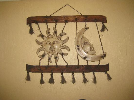 Hotel Hacienda del Sol: One of several nice artisan pieces in the room