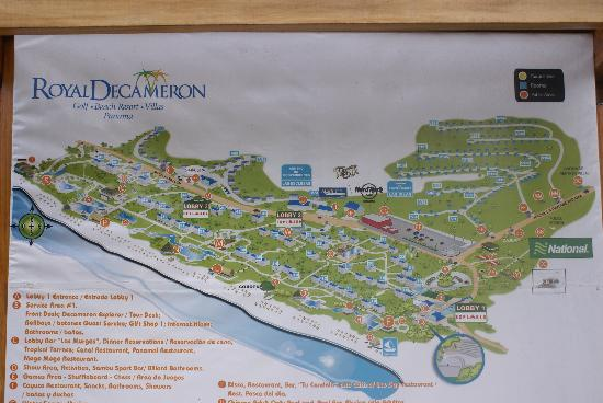 Royal Decameron Golf Beach Resort Villas Map Of