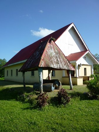 Ovalau Island, ฟิจิ: Church in Lovoni