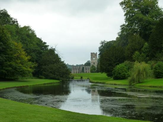Fountains Abbey and Studley Royal Water Garden: view of the abbey.