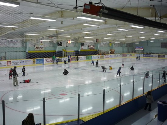 Ice surface at the High Level Sports Complex