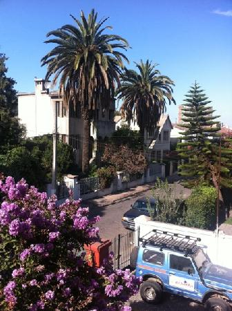 Hostal del Barrio: The view of the garden from our room
