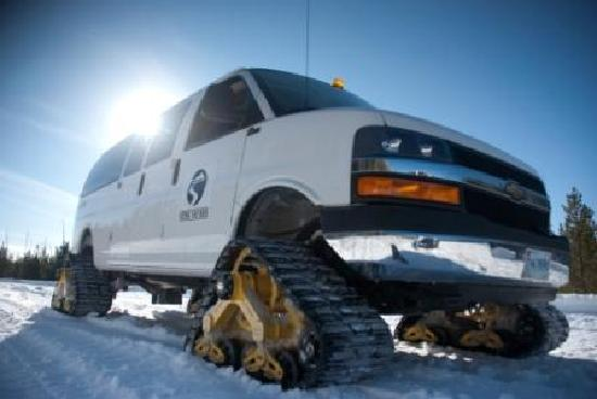 Jackson Hole Adventure Center: Snowcoaches are a warm way to tour the parks in the winter