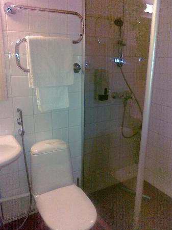Hotelli Ville: Shower and toilet