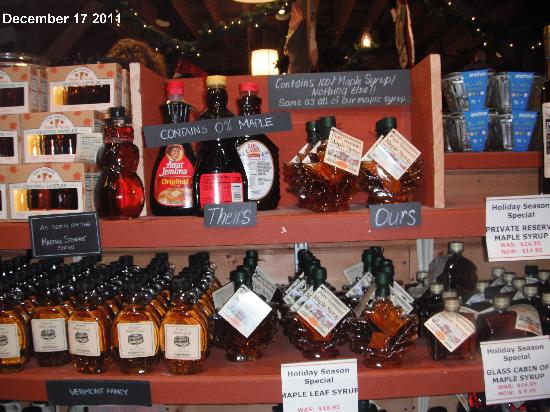 Bryant House: Fake Maple Syrup is banned in Vermont!