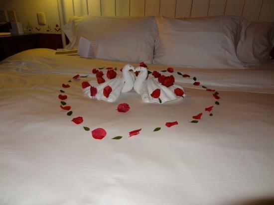 Hacienda Santa Rosa, A Luxury Collection Hotel, Santa Rosa: Notre lit décorée