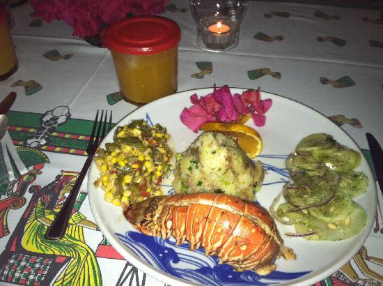 Jackie's on the Reef: Lobster Dinner