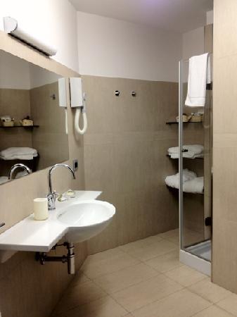 Hotel Transatlantico: bathroom in our room
