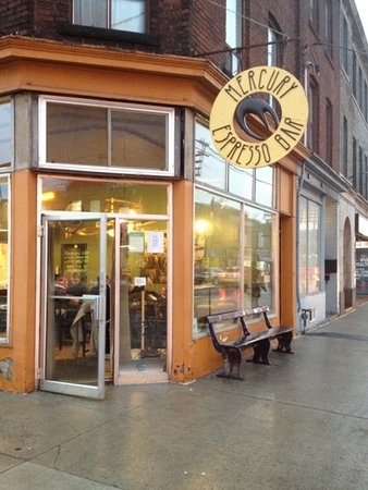 Photo of Cafe Mercury Organic Espresso Bar at 915 Queen St E, Toronto M4M 1J4, Canada