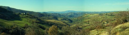 Le Ginestre Bed and Breakfast Assisi: The view as we road the mountain bikes