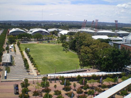 Novotel Sydney Olympic Park: view from 10th floor room1041 corner unit