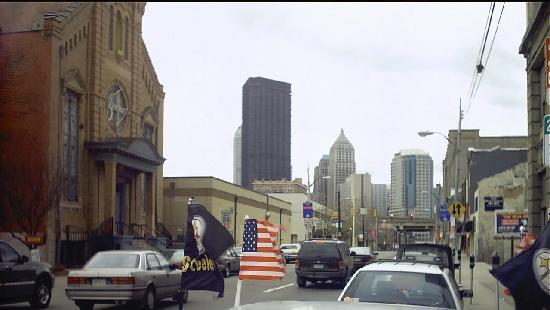 The Strip District: looking down Penn into the City