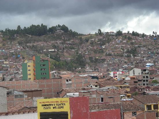 Hotel de la Villa Hermoza: Cusco desde la ventana del hotel