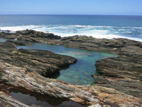 Storms River, South Africa: Swimming in the rock pools