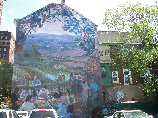 Mural Arts Program of Philadelphia - Mural Tours : Italian restaurant mural
