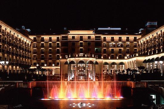 Sheraton Addis, a Luxury Collection Hotel: Front VIew At Night