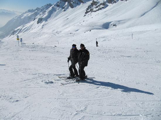 Lech, Áustria: haf-way down the mountain