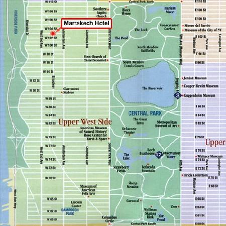 Local Map Picture Of Marrakech Hotel On Broadway New York City