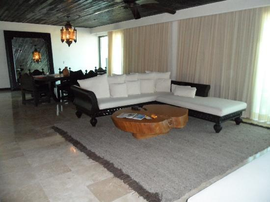 Cabo Azul Resort: one side of the living room.