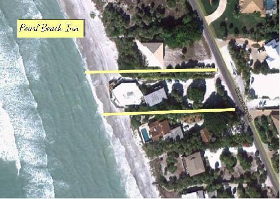 Pearl Beach Inn: Aerial view of our unique location.