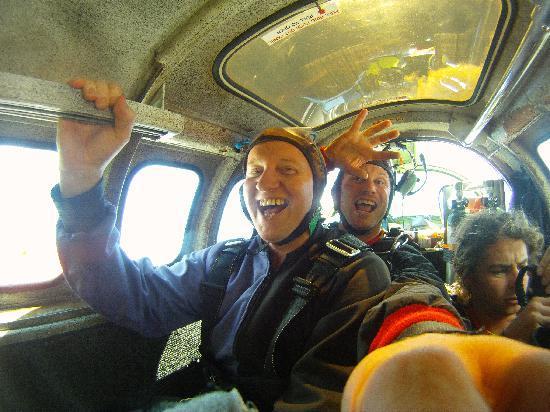 Skydive Fox Glacier : In the plane - bricking myself