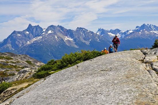Tweedsmuir Park Lodge: Hiking the surrounding peaks. Photo: Mike Wigle