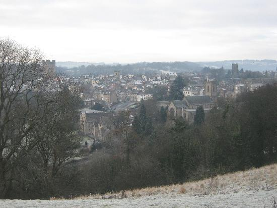 Victoria House: View of Richmond from Maison Dieu on a frosty Sunday morning