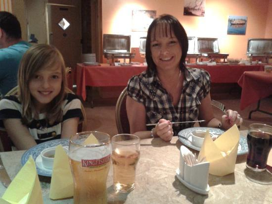 Backwaters: the wife & daughter enjoying the atmosphere