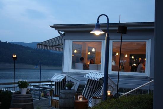 Strandhaus No. 12: Blick von der Terrasse des Standhaus 12