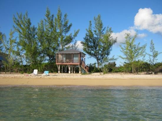 Chez Pierre Bahamas: Wading the flats, wife waving from cottage