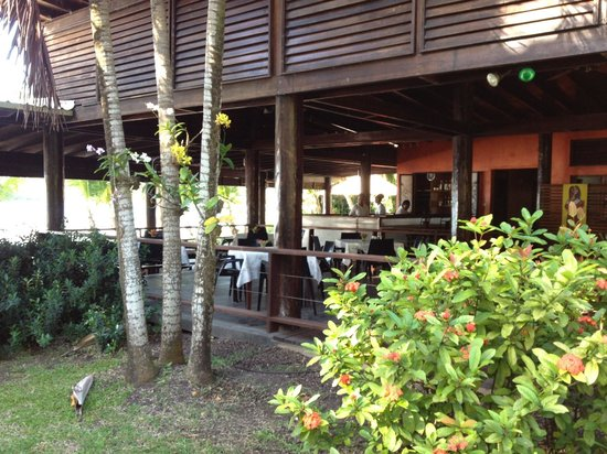 La Sagesse Restaurant: View of bar from garden -