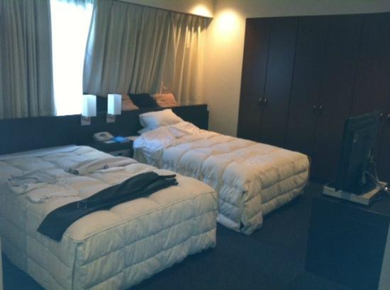 HOTEL the M INNSOMNIA akasaka: Two small-sized double beds