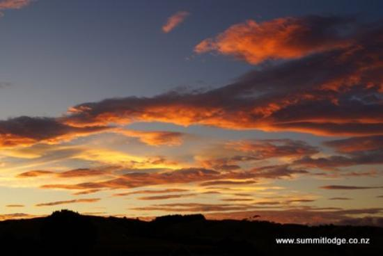 You often see stunning sunsets at the Summit Lodge
