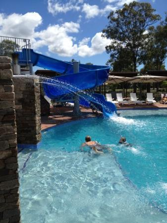 Waterslide and pool picture of gold coast holiday park for Pool show qld