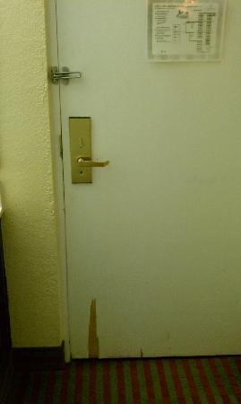 MainStay Suites: old door to hotel room