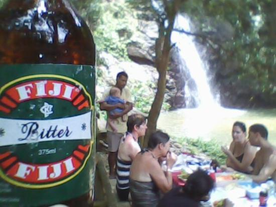 Adventures in Paradise Fiji: Lunch at the waterfalls