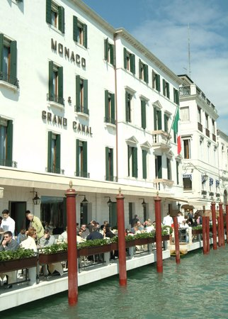 "Hotel Monaco & Grand Canal: Restaurant ""Grand Canal"" Terrace with view overlooking St. Mark's basin and the Grand Canal"