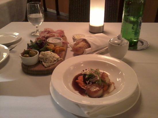 The Forest Grill: Charcuterie, Seared Scallops with Braised Short Rib, and Bread