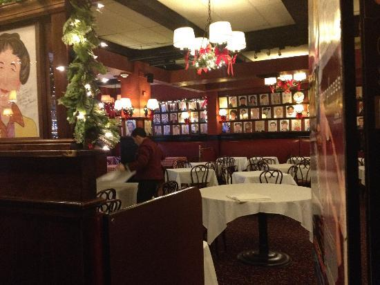 Sardi's Restaurant: One of the upstairs dining rooms