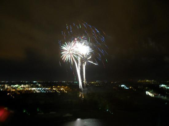Hilton Orlando Bonnet Creek: The hotel fireworks from our room