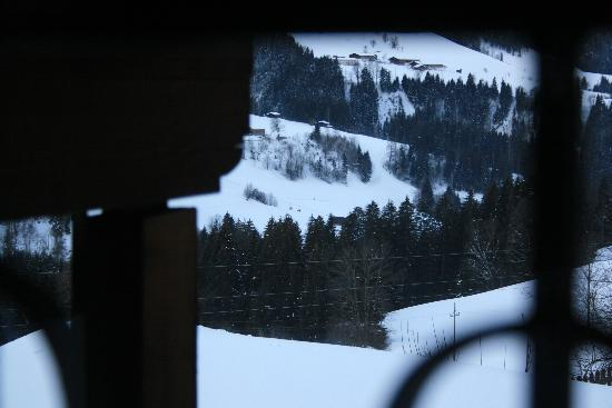 Haus Schmetterling: bedroom view - can see gondola lifts!