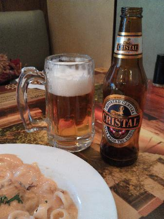 Aguaymaynto Grill: Peruvian Cristal beer - very nice!