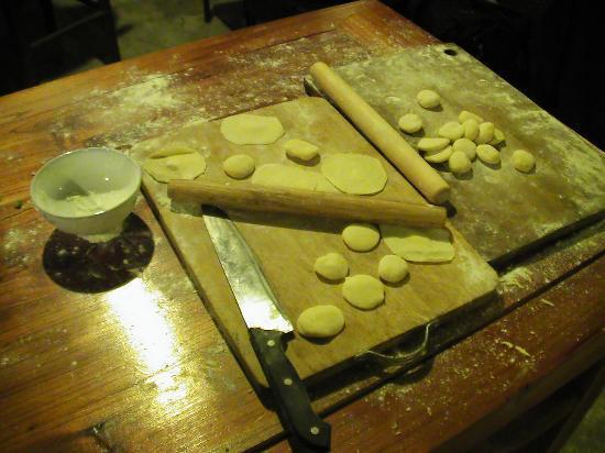 Wada Hostel: Beim Jiaozi machen