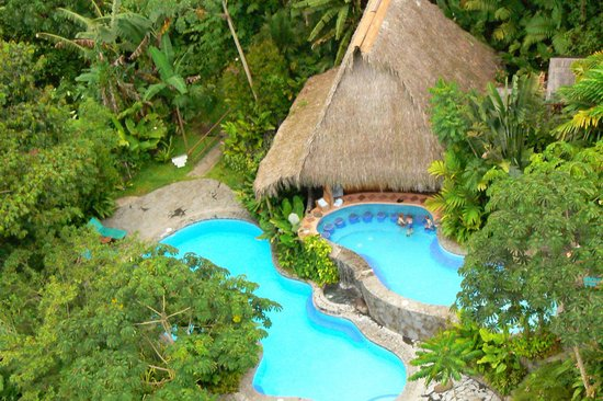 Lost Iguana Resort & Spa: arial of pools