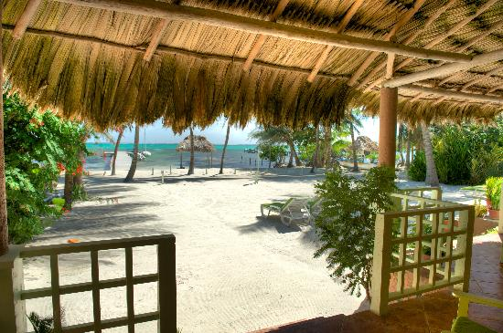 Caye Casa: view from the front porch