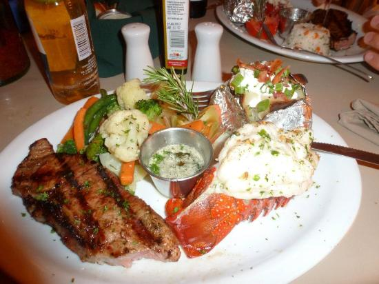 Steak and lobster dinner - Picture of Sardina Cantina, San ...