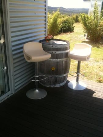 Ridgemill Estate: Cabins in the Vineyard: the patio