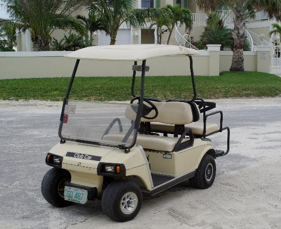 Bahama Beach Club: the golf cart!