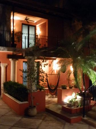 Luz En Yucatan: The porch off our room, in the courtyard by the pool