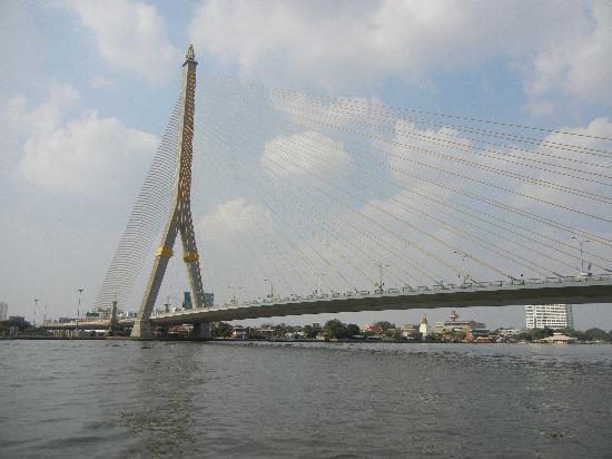 Khaosan Baan Thai: The Rama 8 bridge behind Khaosan Bann Thai